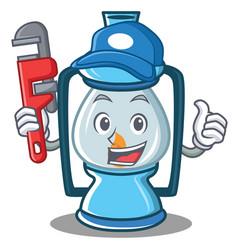 Plumber lantern character cartoon style vector