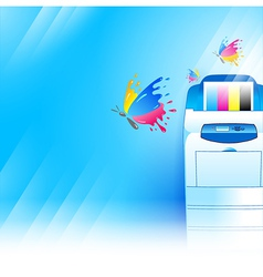 printer background abstract blue texture vector image