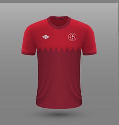 Realistic soccer shirt qatar home jersey vector