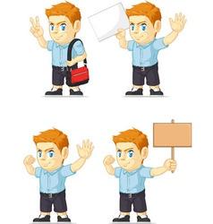 Red Head Boy Customizable Mascot 18 vector image