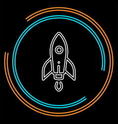 rocket base icon spacecraft - rocket vector image