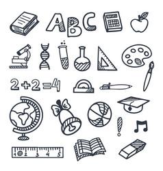 School hand draw doodle elements vector
