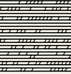 Seamless Black And White Lines Pattern vector image
