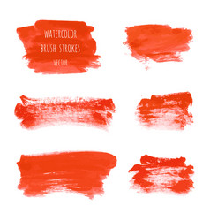 Set bloody red watercolor hand painted textures vector