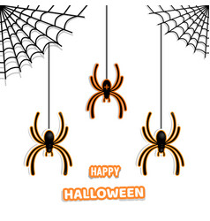 set of stylish paper spiders for halloween vector image