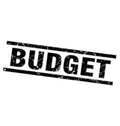 Square grunge black budget stamp vector