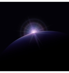Star Rises above the Planet vector image