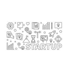 startup horizontal or banner vector image
