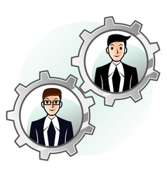 Teamwork gear vector image