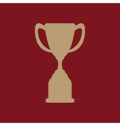 The goblet icon Achievement symbol Flat vector