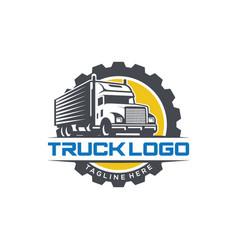 truck logo design template vector image