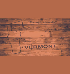 Vermont map brand vector