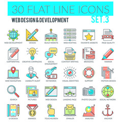web design and development icons vector image
