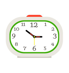 alarm clock with red button vector image