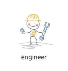 Engineer vector image
