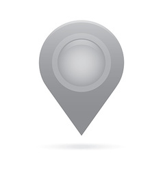 Gray silver map pointer icon marker gps location vector