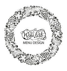 Menu design wine list vector image