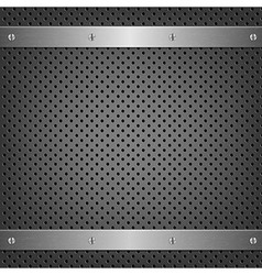Metal Background With Aluminum Plate vector image vector image