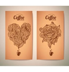 Set of coffee concept design vector image vector image