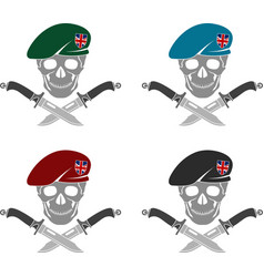 set of sign of special forces of great britain vector image vector image