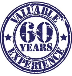 Valuable 60 years of experience rubber stamp vect vector image vector image