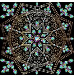Background with circular ornaments of precious sto vector
