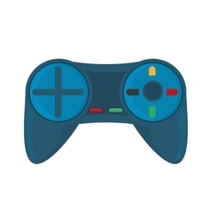 blue control console game white background vector image