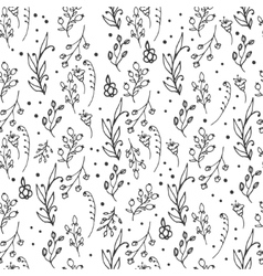 Floral seamless pattern Herbs and wild flowers vector image vector image