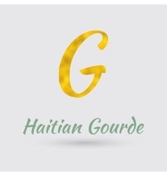 Golden Symbol of Haitian Gourde vector image vector image