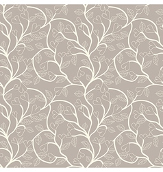 Heart flower seamless pattern vector image vector image