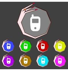 Mobile telecommunications technology symbol set vector