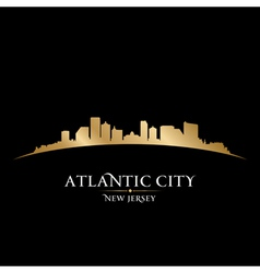 Atlantic city New Jersey skyline silhouette vector image