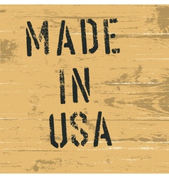made in usa vintage western sign vector image vector image