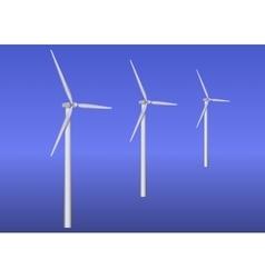 Three wind turbines vector image vector image