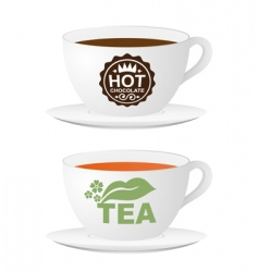 2 cups vector image