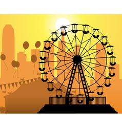 amusement park vector image vector image