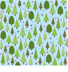 christmastrees vector image