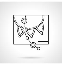 Festive garlands black flat line icon vector image
