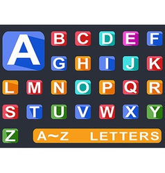 flat alphabet Long shadow icons vector image