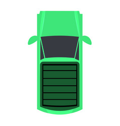 aerial view of a car vector image