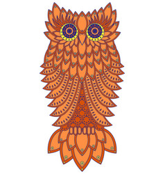 Amusing orange owl vector