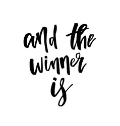 And the winner is giveaway lettering text vector
