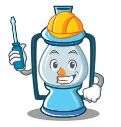 Automotive lantern character cartoon style vector
