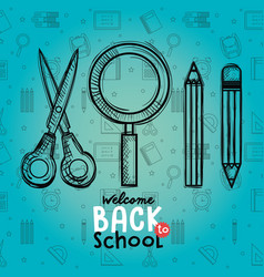 back to school set icons drawings vector image
