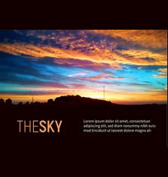 beautiful sky colorful sunshine and sunrise vector image