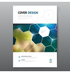 Blue annual report Leaflet Brochure Flyer template vector