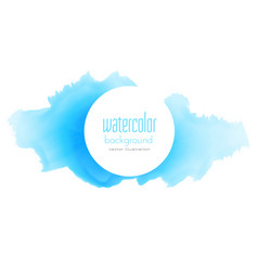 Blue ink splash watercolor texture background vector
