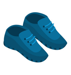 blue sneakers icon isometric style vector image
