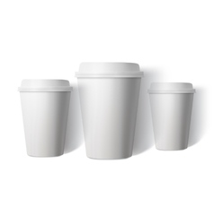 Coffee Cup Set Isolated on White Background vector