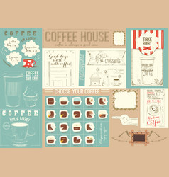 Coffee menu placemat template vector